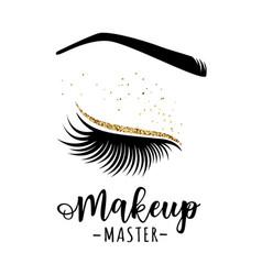 Makeup master logo vector
