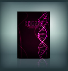 molecule brochure cover vector image