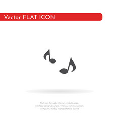 music icon for web business finance and vector image