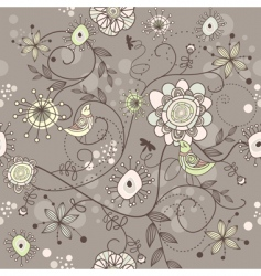 Nature floral background vector
