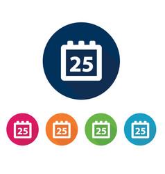 office calendar web icon vector image