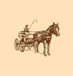 Open carriage vector