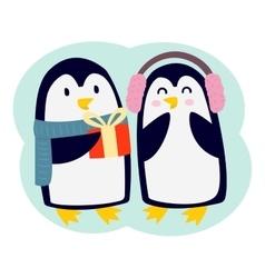 Penguin character vector image