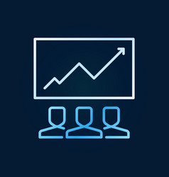 people and graph creative modern line icon vector image
