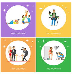 photographer taking picture of celebrity cameraman vector image