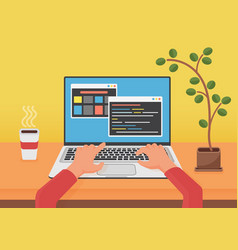 programming coding web development concept vector image