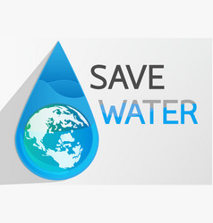 save water2 vector image