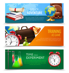 school education banners set vector image