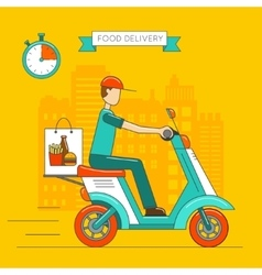 Scooter isolated Delivery transport icon vector