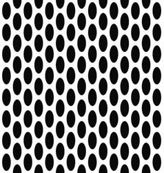 Seamless black and white ellipse pattern design vector