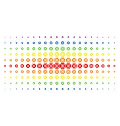 Searchlight spectrum halftone matrix vector