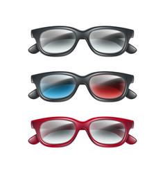 Set 3d glasses vector