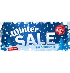 set bright horizontal sale banner on blue vector image