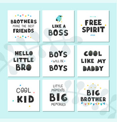 Set with fun hand drawn nursery posters vector