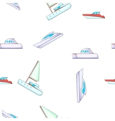 Ship pattern cartoon style vector image vector image