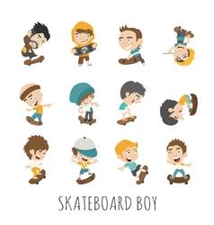 Skateboard Boy eps10 format vector image