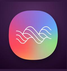 Sound spiral wave app icon music rhythm audio vector