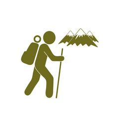 hikers stick figure vector images over 580