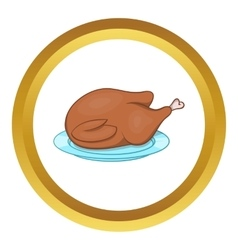 Thanksgiving turkey icon vector