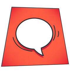 Thought or dialog bubble message cloud on red vector