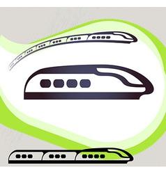 Train Retro-style emblem icon pictogram EPS 10 vector image