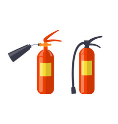 two red extinguishers isolated on white poster vector image vector image