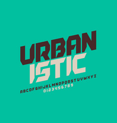 urbanism style font design alphabet letters and vector image