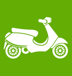 vespa scooter icon green vector image