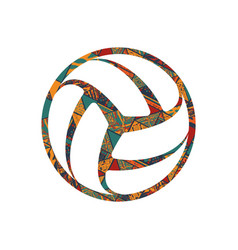 volleyball pattern symbol vector image