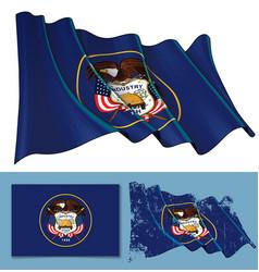 Waving flag state utah vector