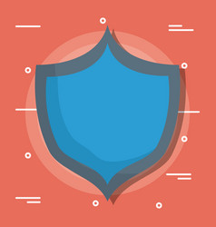 blue shield design vector image