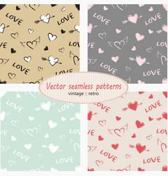 hearts valentine day set vector image