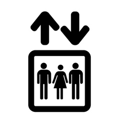 Lift or elevator symbol on white background vector image vector image