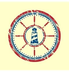 Lighthouse symbol grunge vector image
