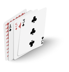 playing cards icon isometric 3d style vector image vector image