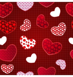 Red Love Valentins Day Seamless Pattern vector image vector image
