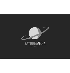 Saturn silhouette isolated vector image vector image
