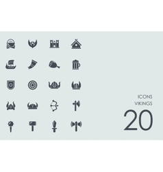 Set of Vikings icons vector image vector image