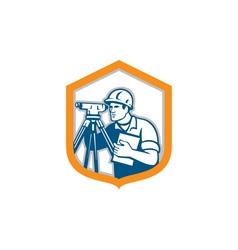 Surveyor Geodetic Engineer Survey Theodolite vector image