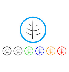 bare tree rounded icon vector image