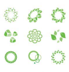 eco elements vector image