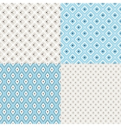 geometric colorful seamless patterns vector image vector image