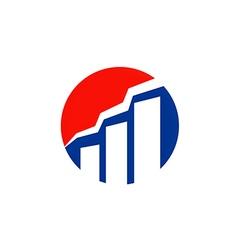 graph business finance design logo vector image vector image