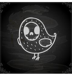 Hand Drawn Bird Skeleton vector image