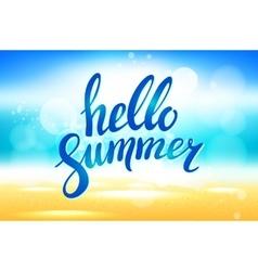 hello summer background Hello summer vector image vector image