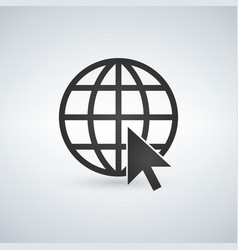 internet icongo to web sign internet symbol vector image