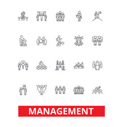 management teamwork marketing strategy human vector image