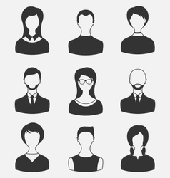 set business people different male and female user vector image