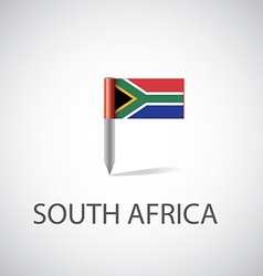 south africa flag pin vector image vector image