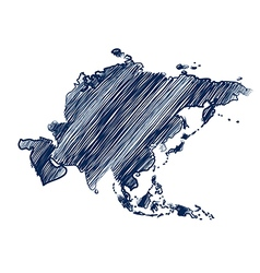 Asia continent vector image